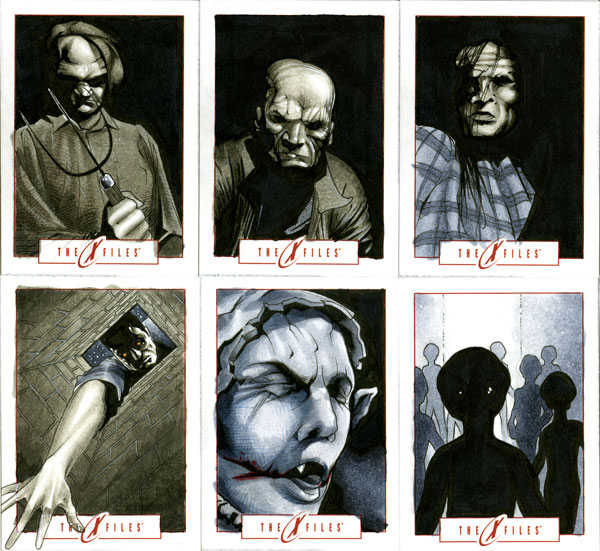 X-Files Sketch Cards 02 by RichardCox