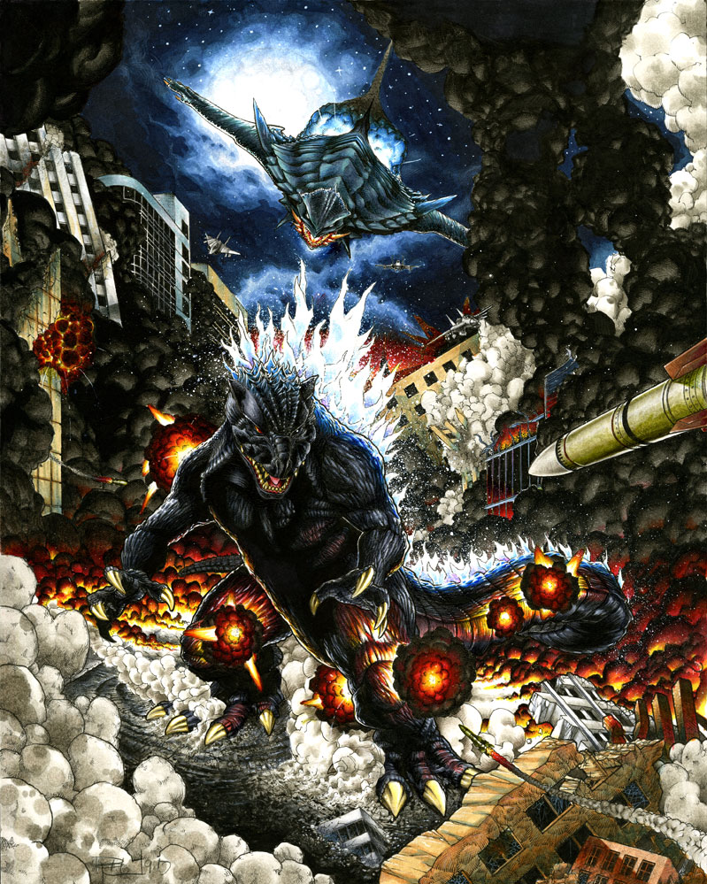 Godzilla X Gamera by RichardCox