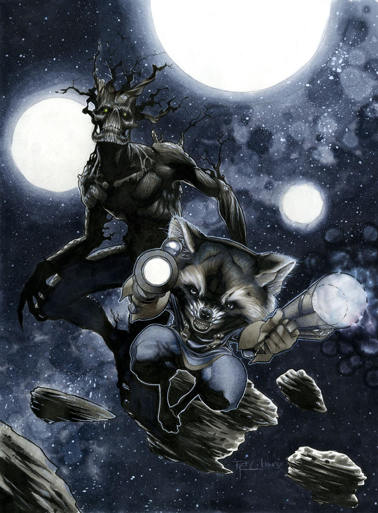 Star Lord And Rocket Raccoon By Timothygreenii On Deviantart: Rocket Raccoon And Groot By RichardCox On DeviantArt