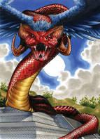 Quetzalcoatl Classic Mythology 2 Base Card by RichardCox