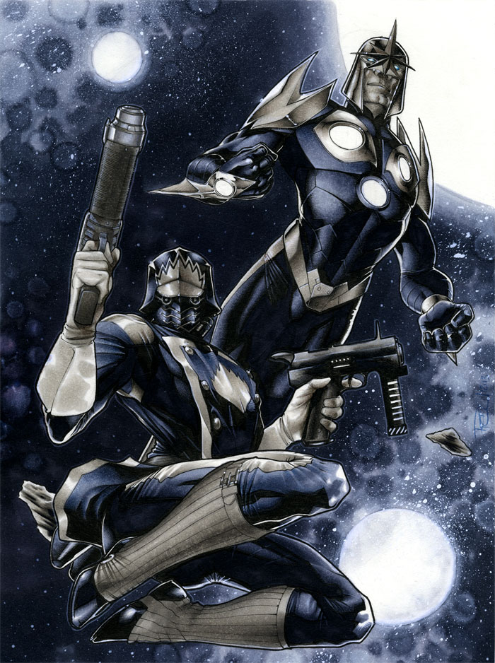 Star Lord and Nova by RichardCox