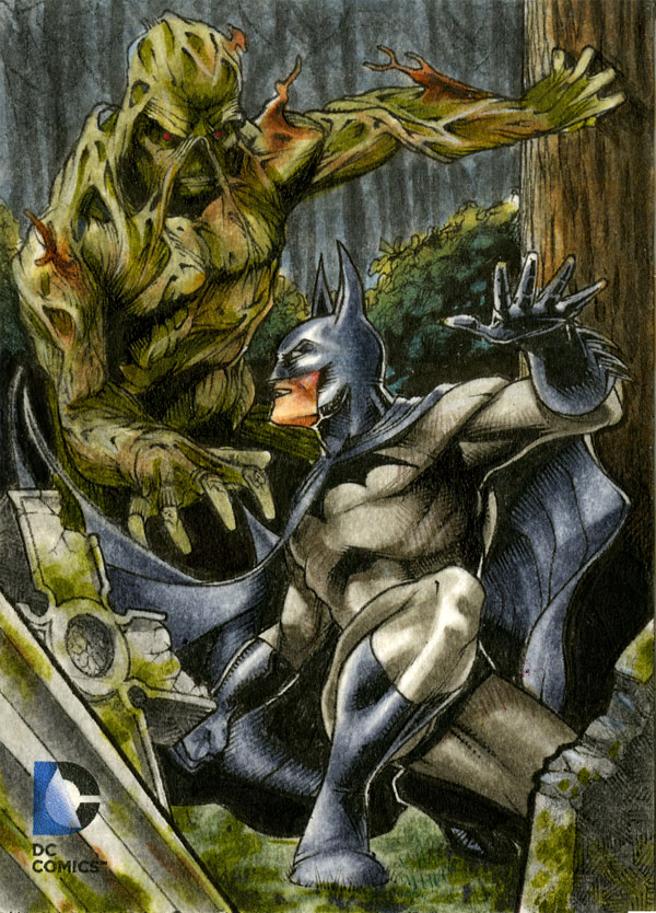Batman v Swamp Thing DC Epic Battles Artist Return by RichardCox