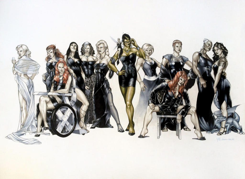 The Women Of Dc Comics Ink In Adam Withers S Dc Comics: Women Of Marvel By RichardCox On DeviantArt