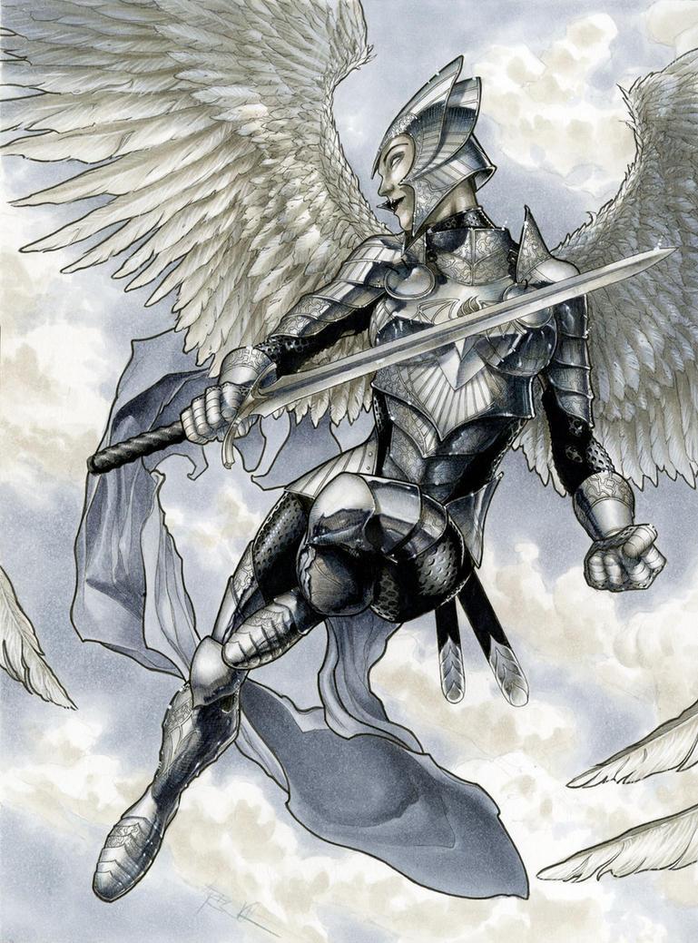 Archangel/Valkyrie/Paladin 9x12 Patreon reward by RichardCox