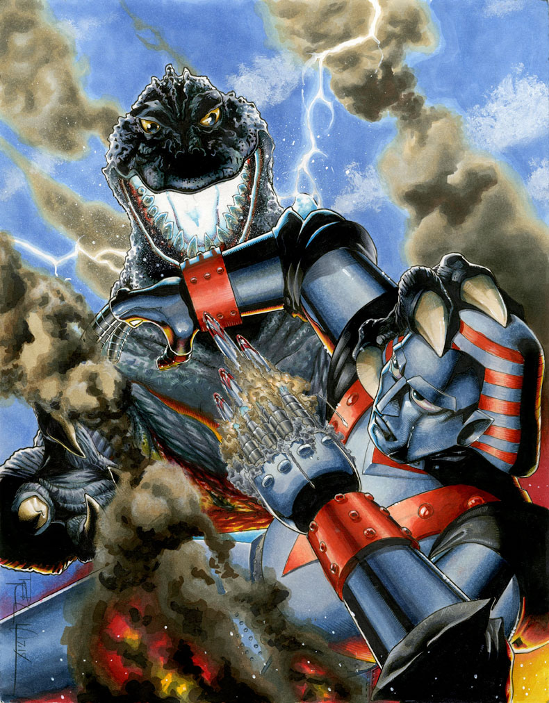 Godzilla vs. Giant Robo by RichardCox