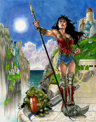 Wonder Woman on Themyscira