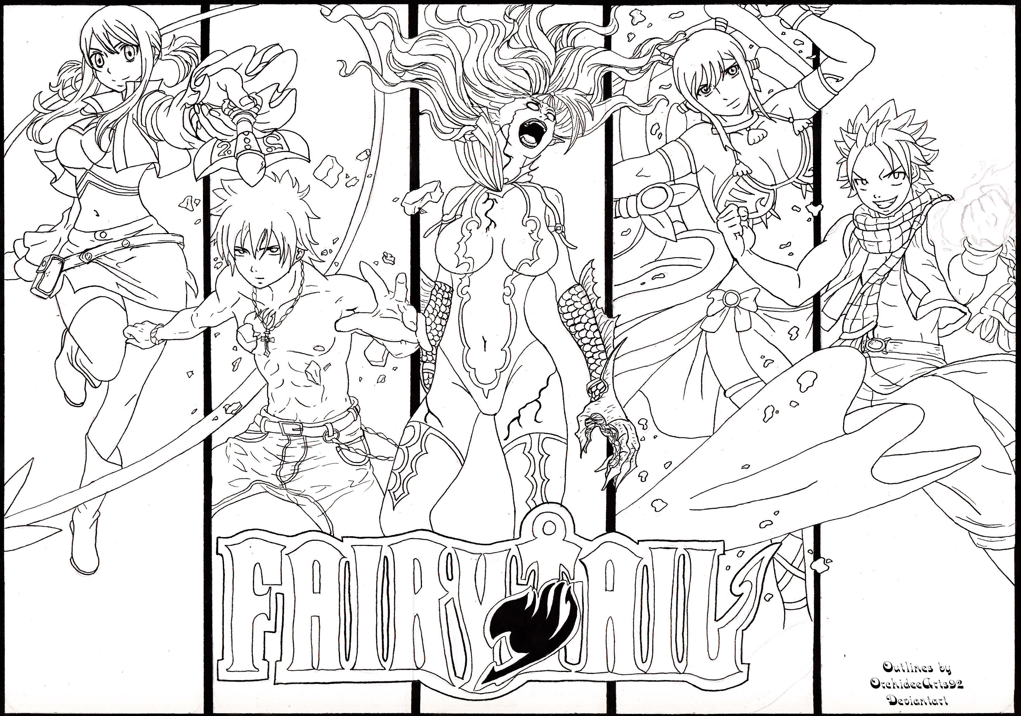 Fan Art Fairy Tail By OrchideeArts92