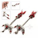 CHERRY NYMPH -butterfly silver earrings