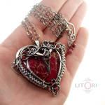 RED DESIRE - silver heart pendant