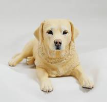 Labrador Figurine by Kesa-Godzen
