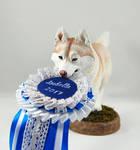 Husky figurine by Kesa-Godzen