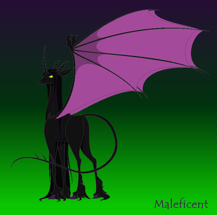Villainous Disney Unicorns Maleficent By Bambisparanoia On