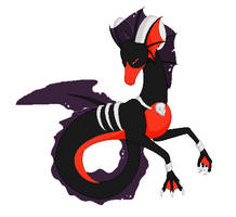 Poke-mythology - Houndoom Hippocampus by BambisParanoia