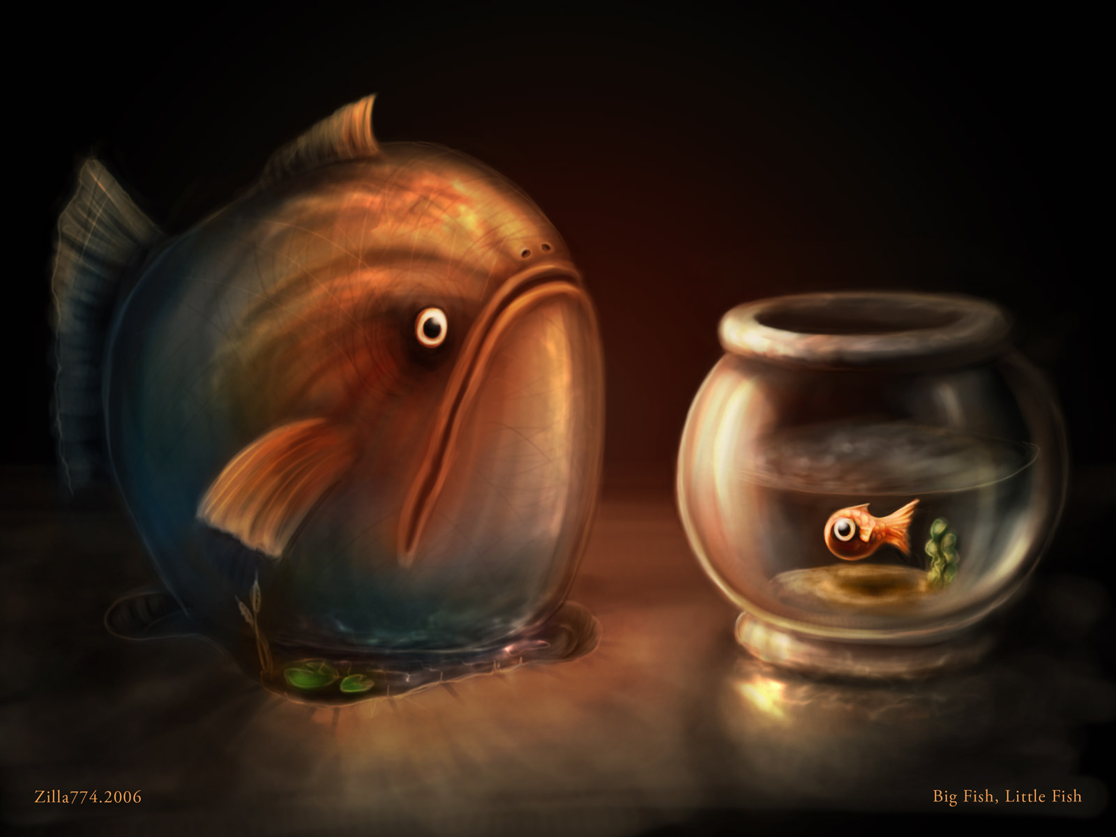 Big fish little fish by zilla774 on deviantart for Big fish little fish
