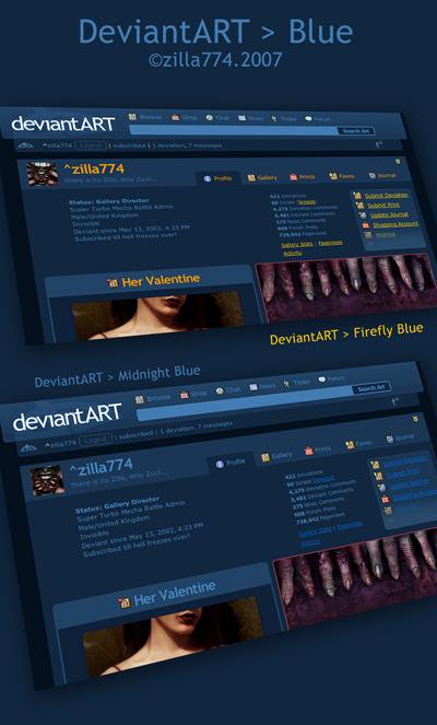 deviantART - Blue Series by zilla774