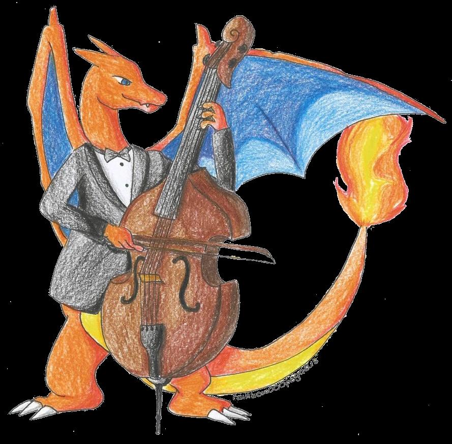 C G Charizard On Double Bass By Rainbow000pegasus