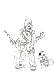 Pokemon Apocalypse: Ace Trainer and Squirtle by SaveTheGnomes13