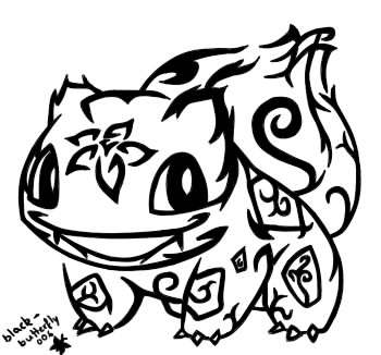 #001: Tribal Bulbasaur by blackbutterfly006