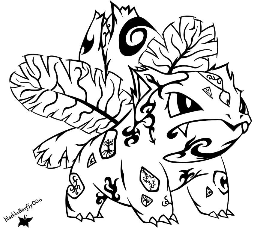 #002: Tribal Ivysaur by blackbutterfly006 on DeviantArt