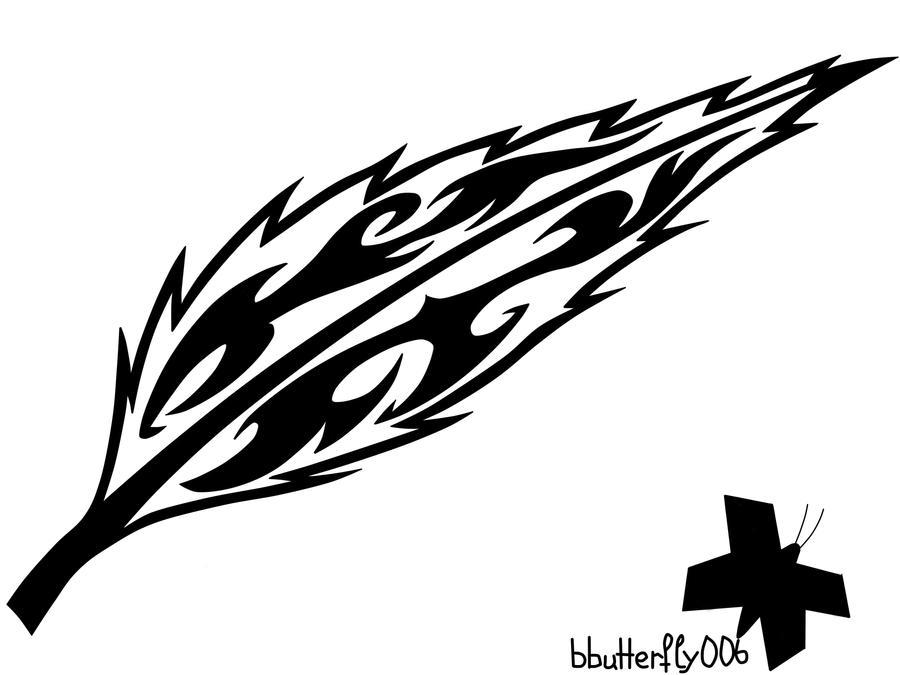 Line Art Feather : Tribal feather by blackbutterfly on deviantart