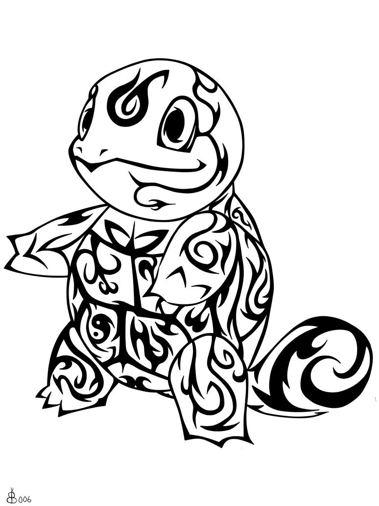 #007: Tribal Squirtle by blackbutterfly006 on DeviantArt