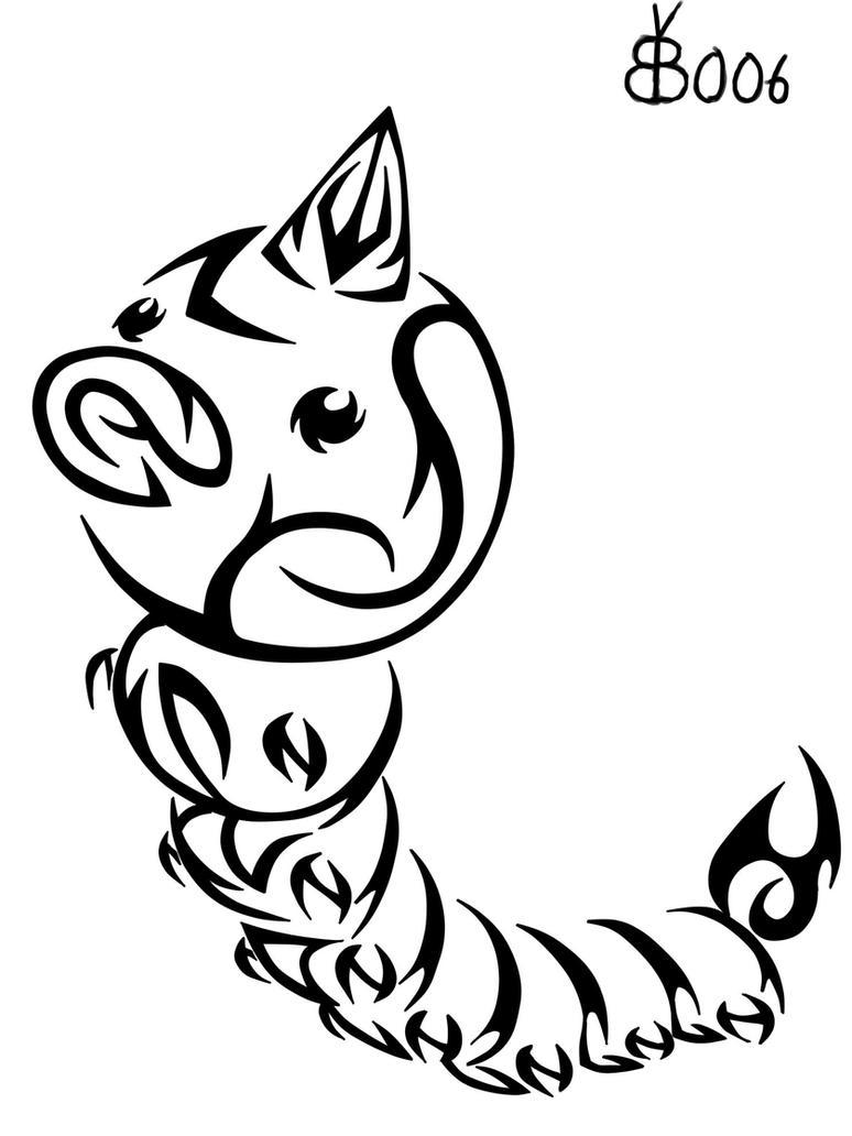 #013: Tribal Weedle by blackbutterfly006