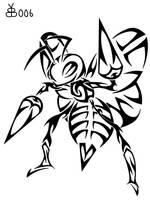 #015: Tribal Beedrill by blackbutterfly006