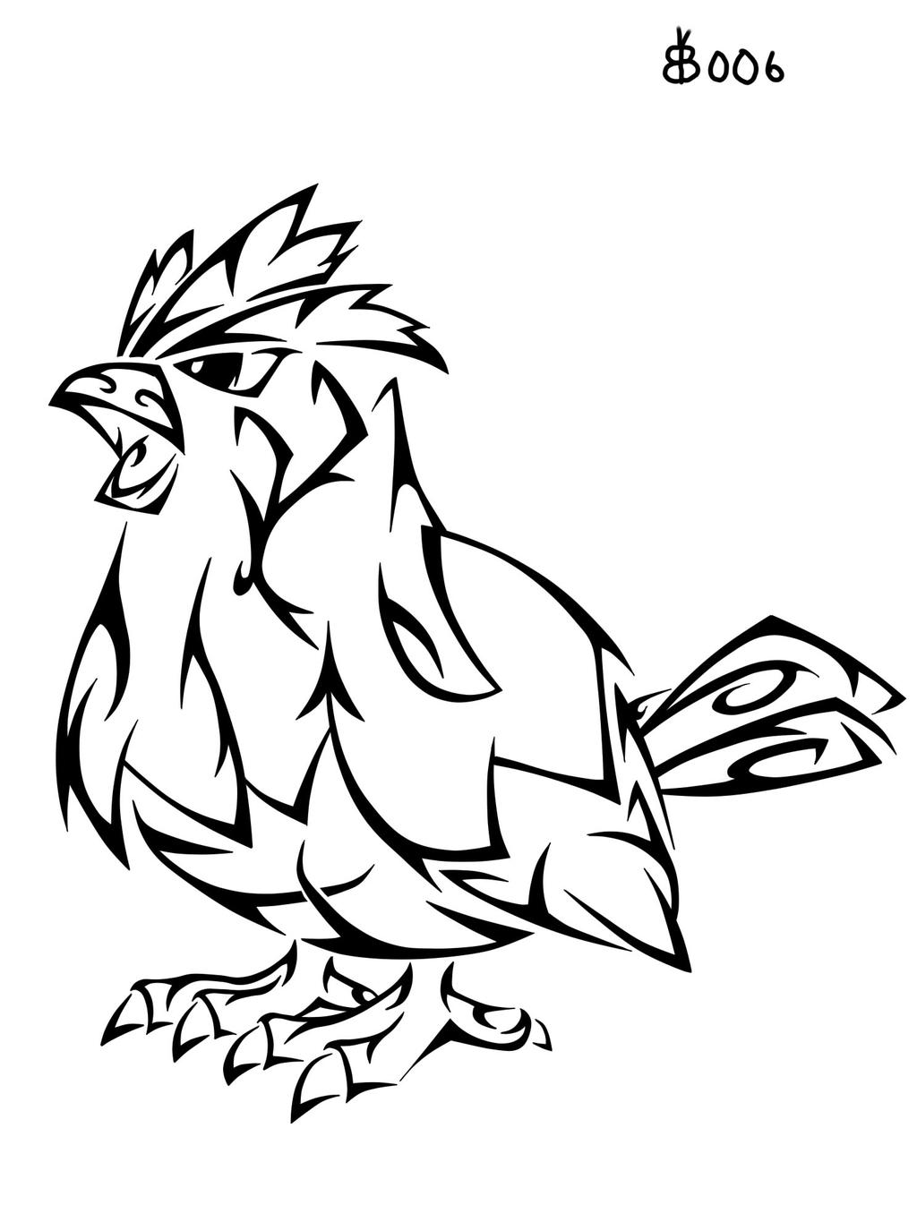 #016: Tribal Pidgey by blackbutterfly006