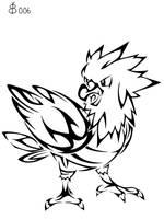 #021: Tribal Spearow by blackbutterfly006