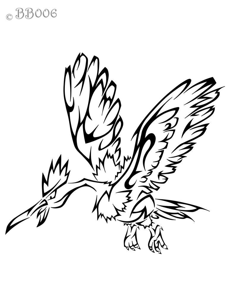 #022: Tribal Fearow by blackbutterfly006