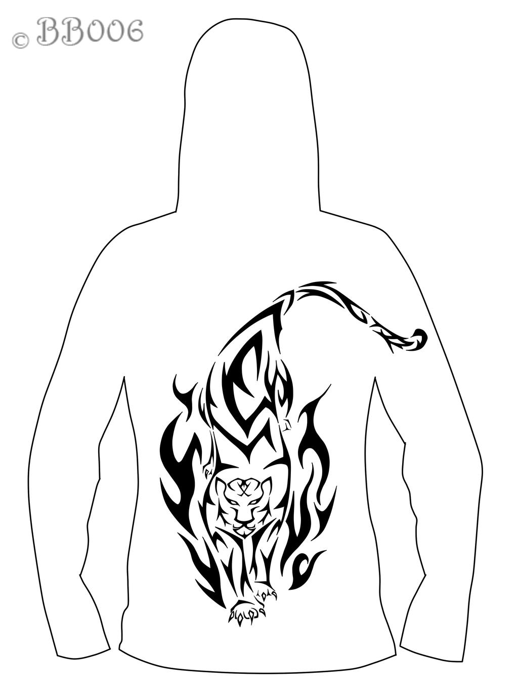 Hoodiedesign- Tiger: Backside by blackbutterfly006