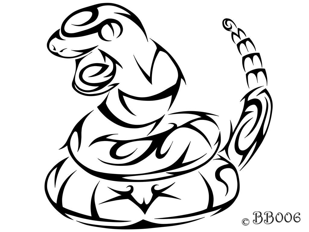 #023: Tribal Ekans by blackbutterfly006