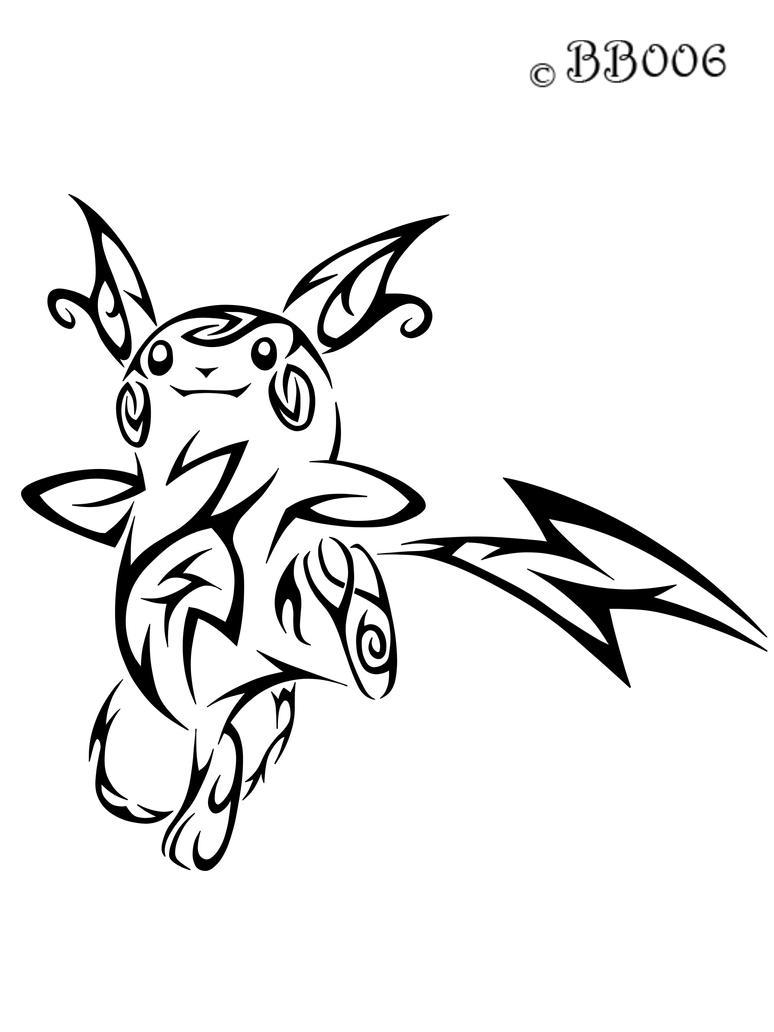 #026: Tribal Raichu by blackbutterfly006