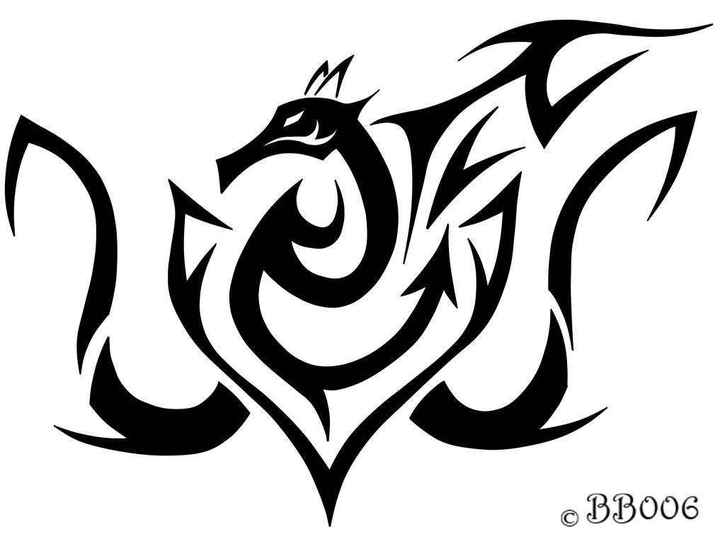 Tribal Dragon by blackbutterfly006