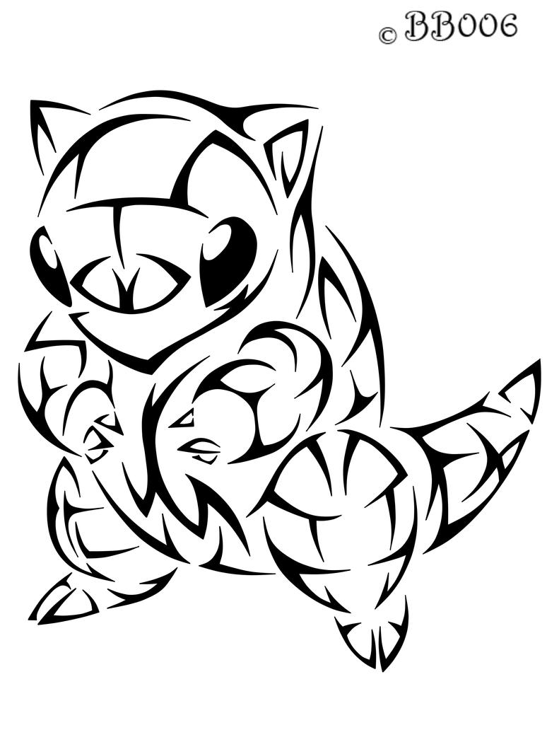 #027: Tribal Sandshrew by blackbutterfly006