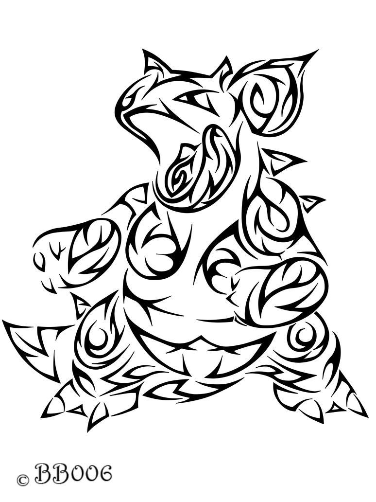 #031: Tribal  Nidoqueen by blackbutterfly006