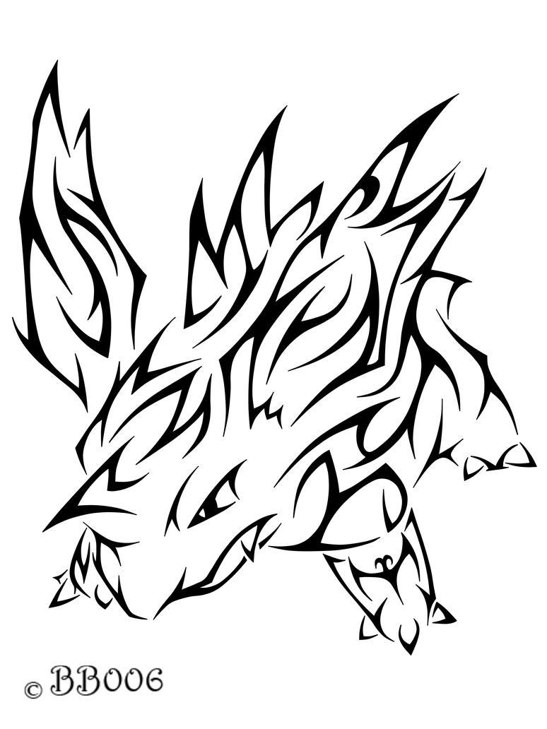 #033: Tribal Nidorino by blackbutterfly006