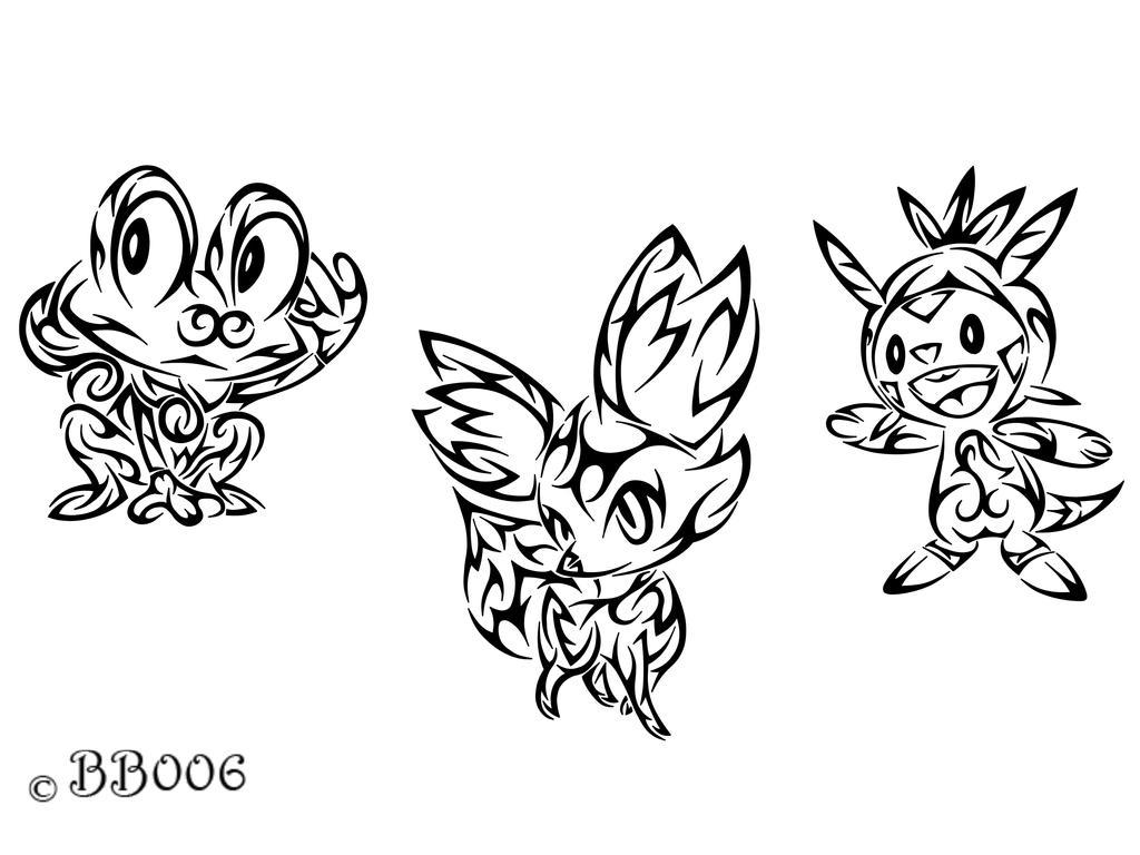 Tribal Starter: Pokemon X,Y by blackbutterfly006
