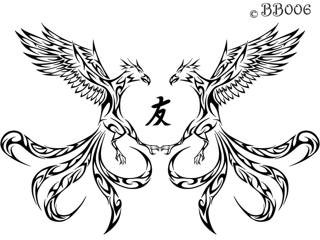 Tribal Phoenix Tattoo by blackbutterfly006