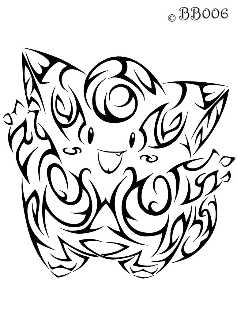 #035: Tribal Clefairy by blackbutterfly006