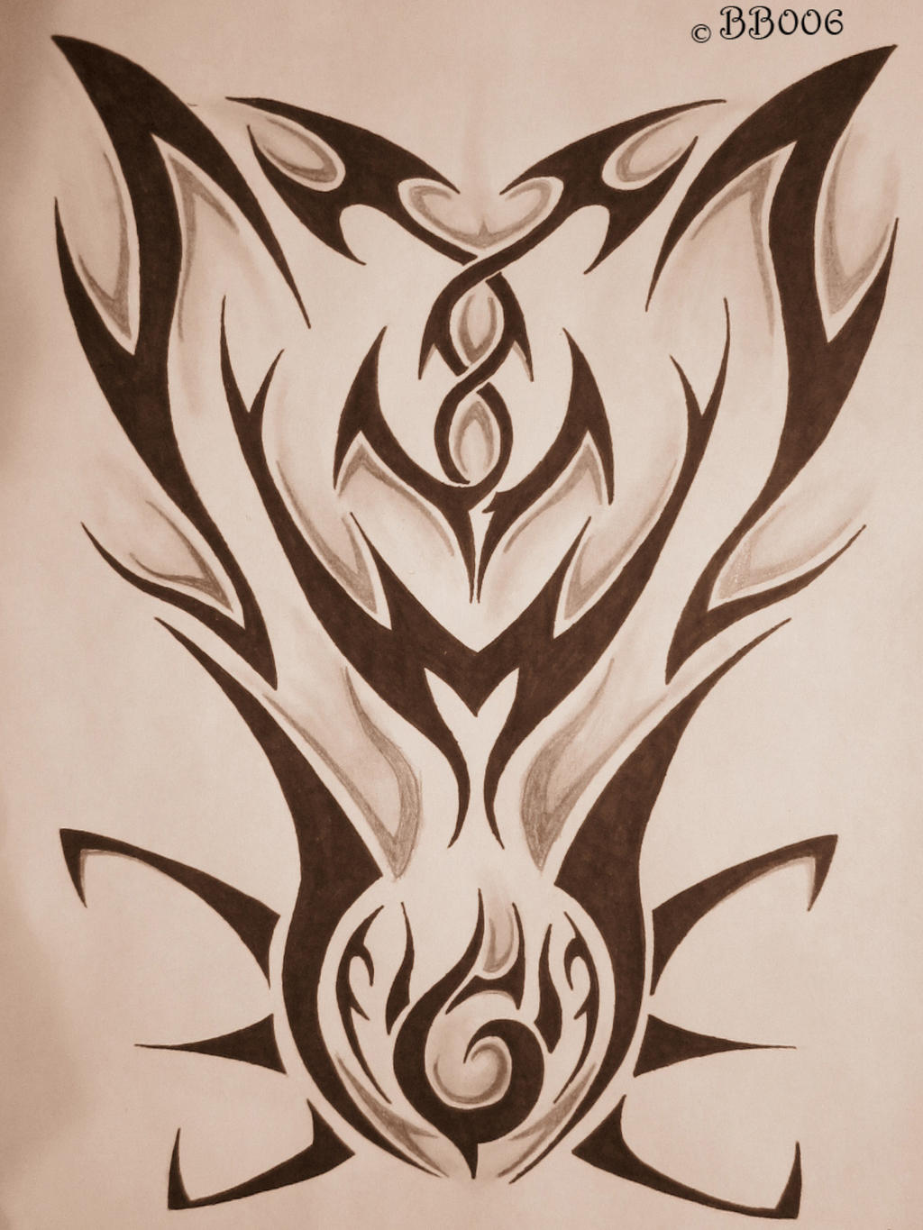 Tribal Tattoo Design 3 by blackbutterfly006