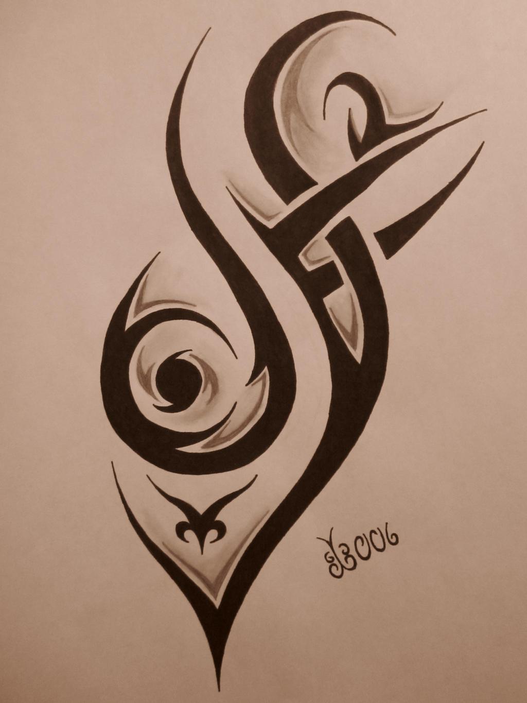 tribal tattoo design 4 by blackbutterfly006 on deviantart. Black Bedroom Furniture Sets. Home Design Ideas