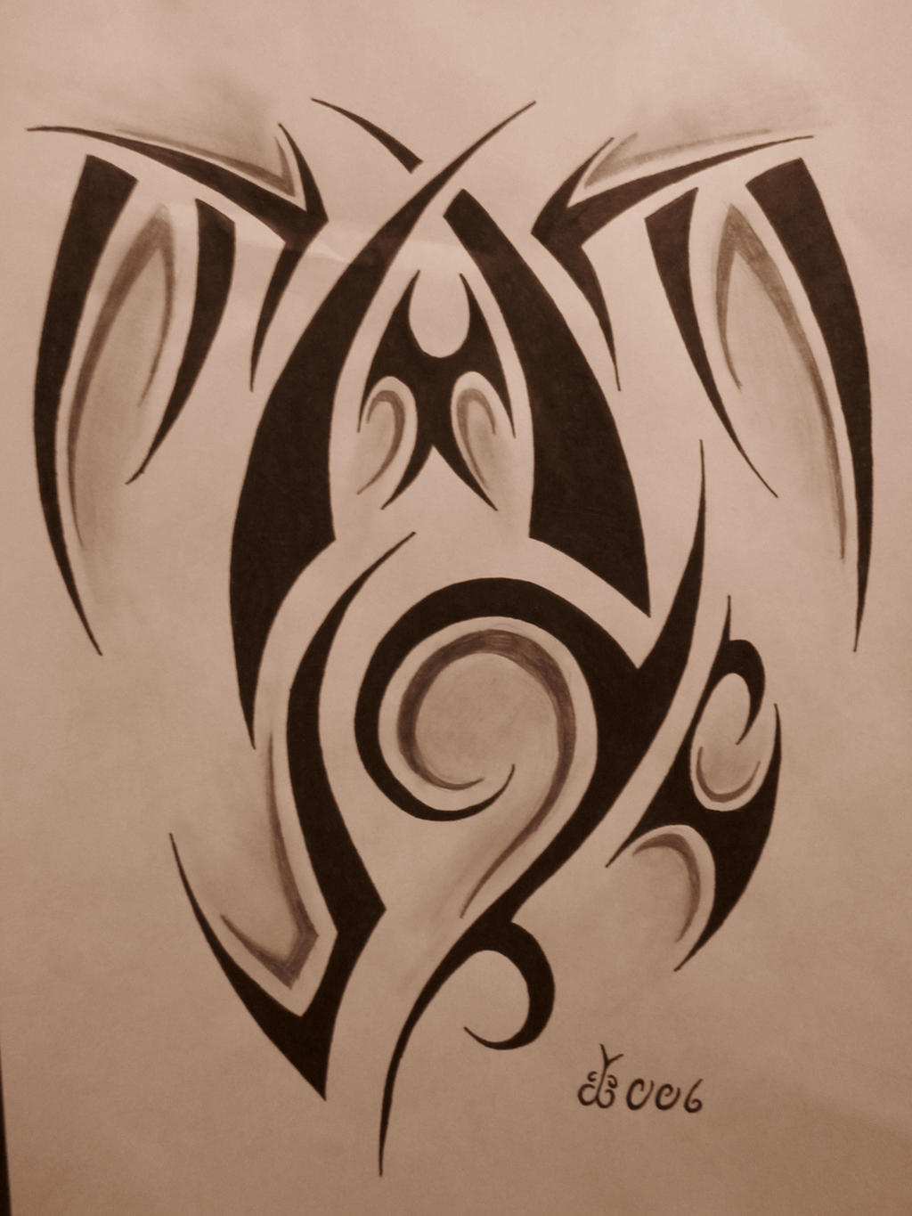 Tribal tattoo design 5 by blackbutterfly006 on deviantart for Images of tribal tattoos