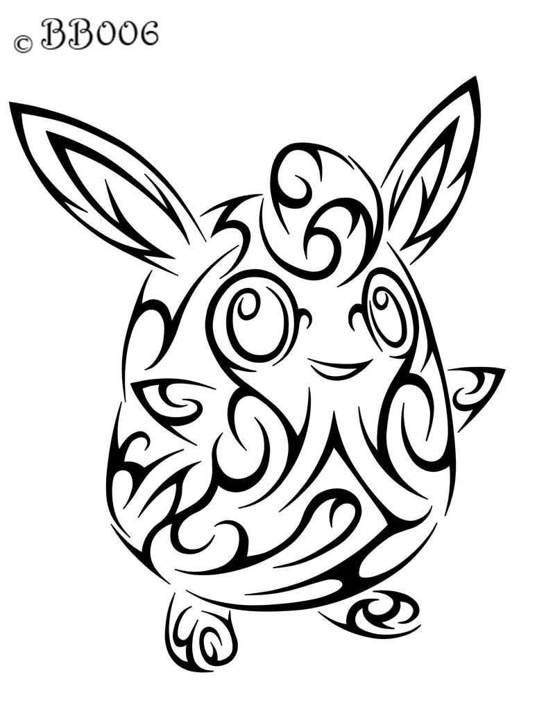 #040: Tribal Wigglytuff by blackbutterfly006