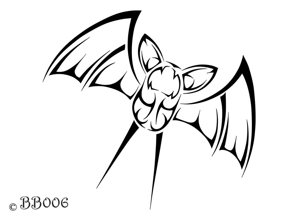 #041: Tribal Zubat by blackbutterfly006