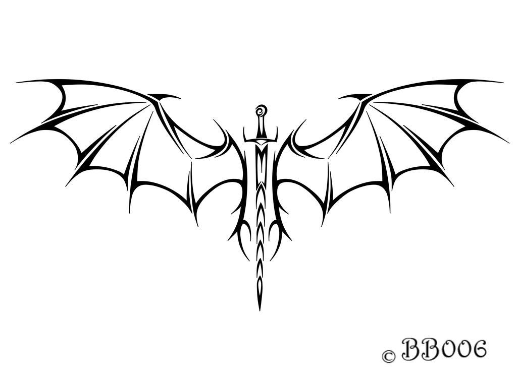 tribal winged sword by blackbutterfly006 on deviantart