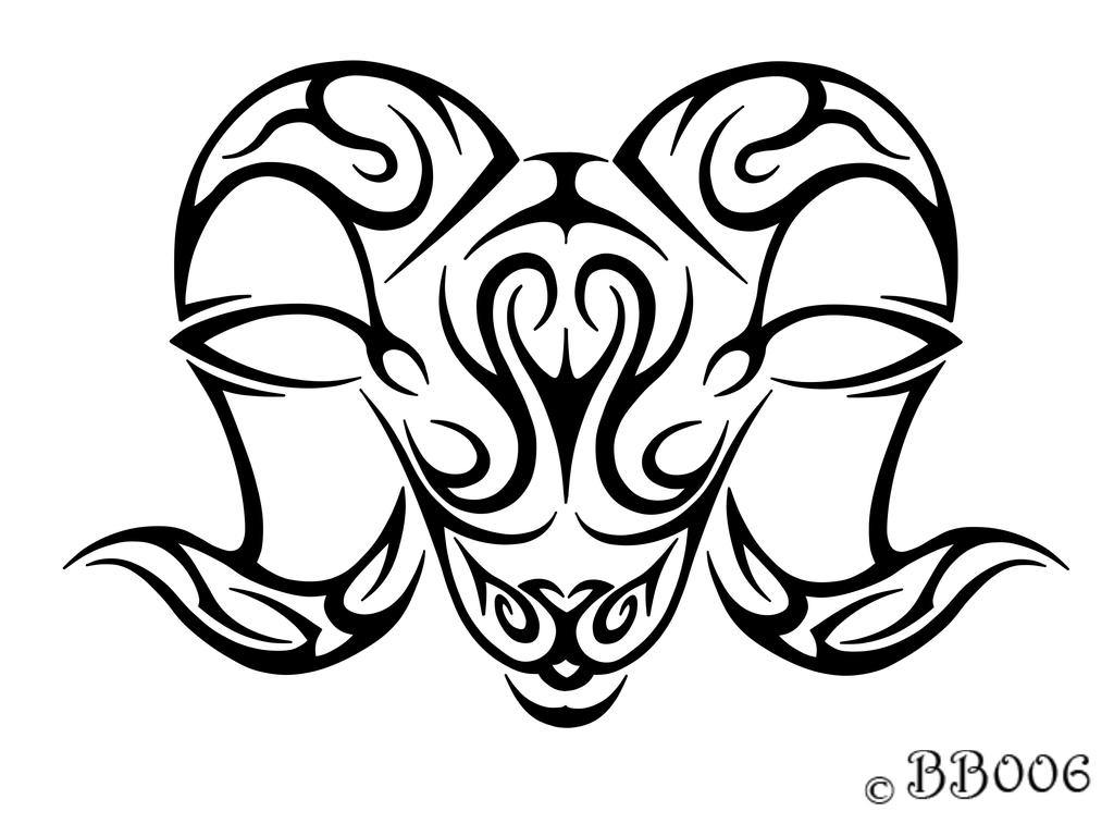Tribal Aries Head by blackbutterfly006