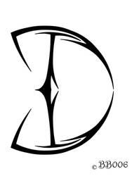 Tribal Logo D by blackbutterfly006