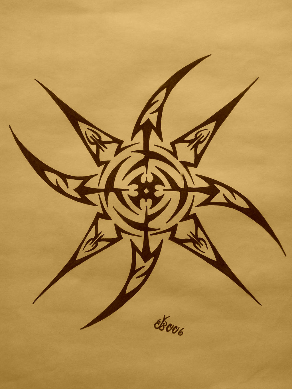 Tribal Shuriken by blackbutterfly006