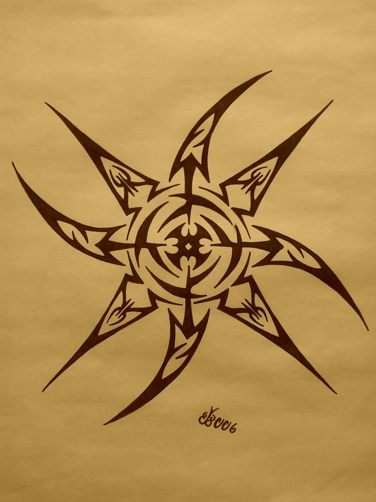 Tribal Shuriken by blackbutterfly006